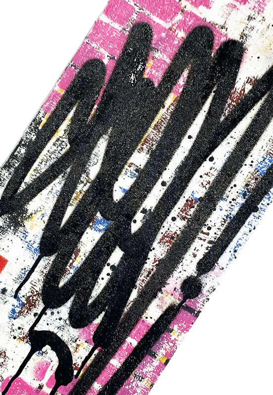 SEEN, ''Tags' (pink-vertical)', 2019, Painting, Hand-painted spray/acrylic on hand-pulled, 100% cotton canvas., Signari Gallery