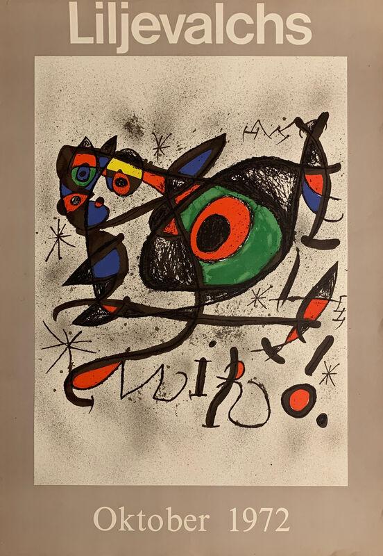 Joan Miró, ' Liljevalchs exhibition poster', 1972, Ephemera or Merchandise, Offset lithograph poster, OBA/ART