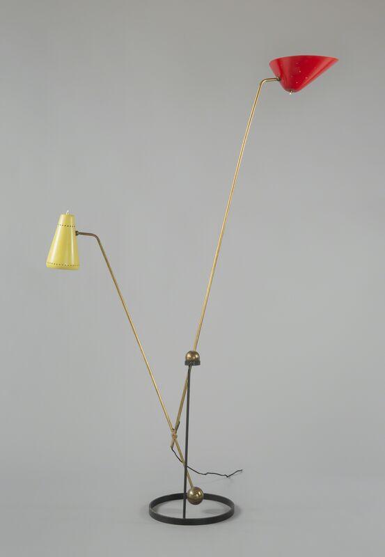 Pierre Guariche, 'Floorlamp G23 Edition Pierre Disderot', 1951, Design/Decorative Art, Polish brass, black, yellowand red lacquered metal and aluminium, Galerie Pascal Cuisinier