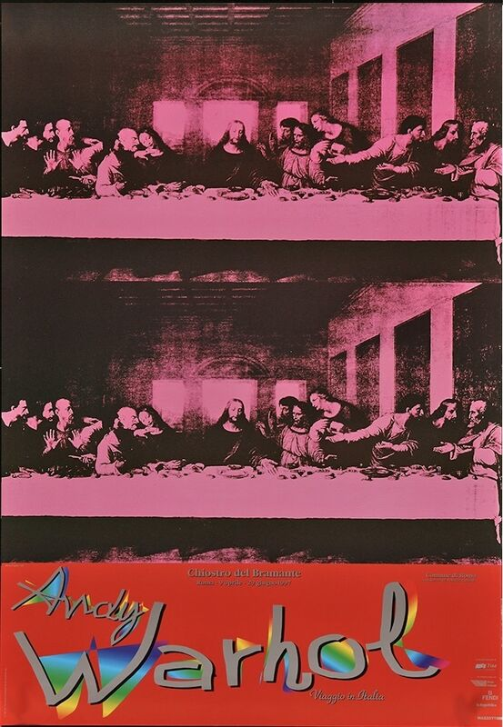 Andy Warhol, 'ANDY WARHOL, Viaggio in Italia Italian Museum/Art Exhibition Oversize Poster 1997 The Last Supper!', 1997, Ephemera or Merchandise, Large Format Lithographic Poster, David Lawrence Gallery