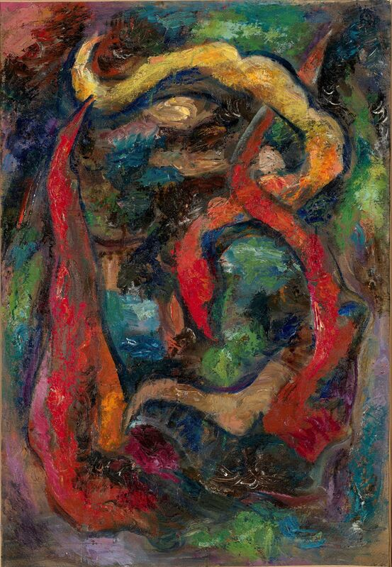 Vladimir Davidovich Baranoff-Rossiné, 'Composition abstraite n°3', Painting, Oil on canvas, Leclere