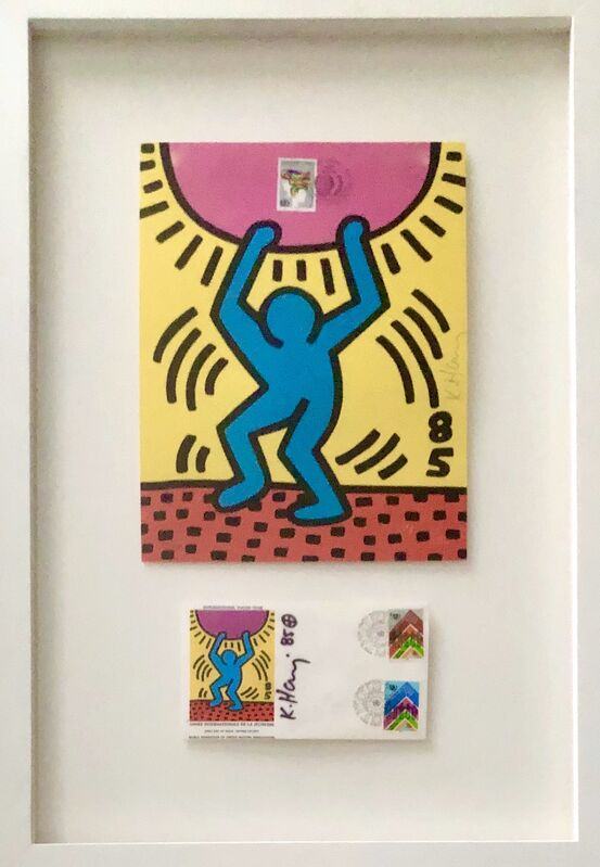 Keith Haring, 'International Youth Day', 1985, Print, Lithograph printed in colors on wove paper with accompanying envelope, Artsy x Capsule Auctions