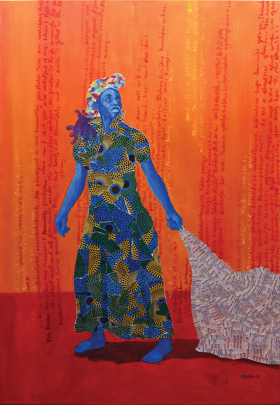Prudence (Prudie) Chimutuwah, 'Tsapo II.', 2021, Painting, Acrylic with collage and varnish on canvas, Peter Harrington Gallery