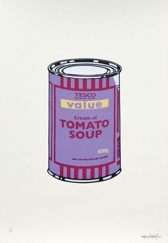 Banksy, 'Soup Cans. Violet Cherry Beige', 2005, Print, Serigraph in colors on paper, Artrust