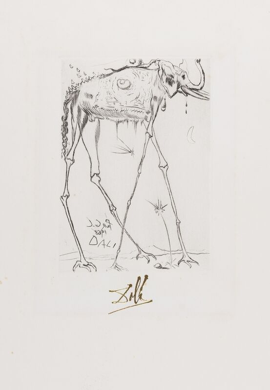 Salvador Dalí, 'Eléphant (from Fifteen Etchings) (Field 68-4G; M&L 283-e)', 1968, Print, Etching with engraving, Forum Auctions