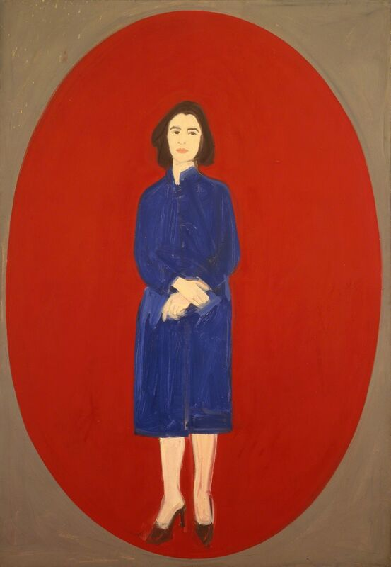 Alex Katz, 'Ada (Oval)', 1959, Painting, Oil on linen, Colby College Museum of Art