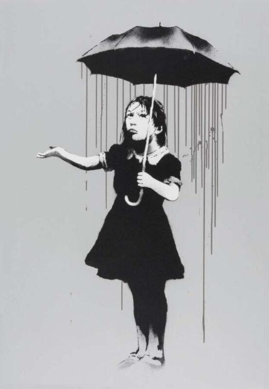 Banksy, 'Nola (Grey rain variant)', 2009, Print, Screenprint on paper, Hexagon Gallery