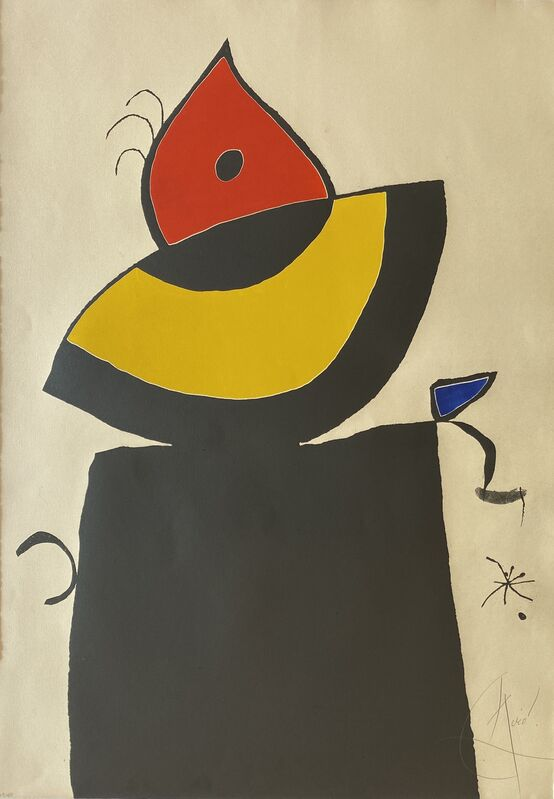 Joan Miró, 'Quatre Colors Aparien El Mon V (Four Colors will Beat the World V)', 1975, Print, Etching and Aquatint with Embossing in Colors on Arches Paper, Denis Bloch Fine Art