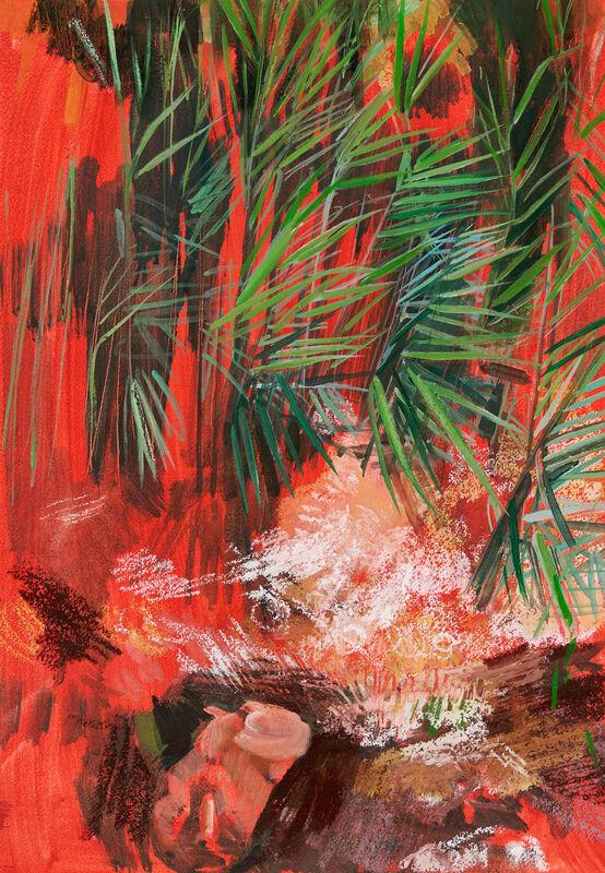 Yvette Kießling, 'Gefallener Wolf', 2021, Painting, Oil on Paper, Galerie Schimming