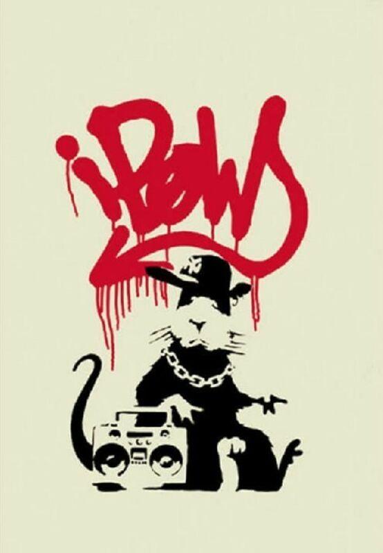 Banksy, 'Gangsta Rat- Unsigned', 2004, Print, Screenprint in colors on Wove Paper, Robin Rile Fine Art