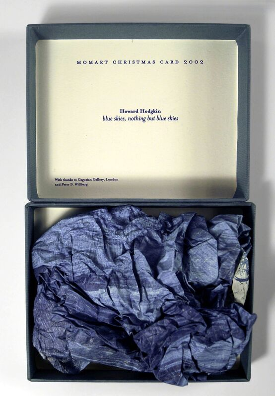 Howard Hodgkin, 'Blue Skies, Nothing but Blue Skies (Momart Christmas Card)', 2002, Other, Screenprint in colours, compressed and presented in original titled box, with accompanying letter from momart, Roseberys