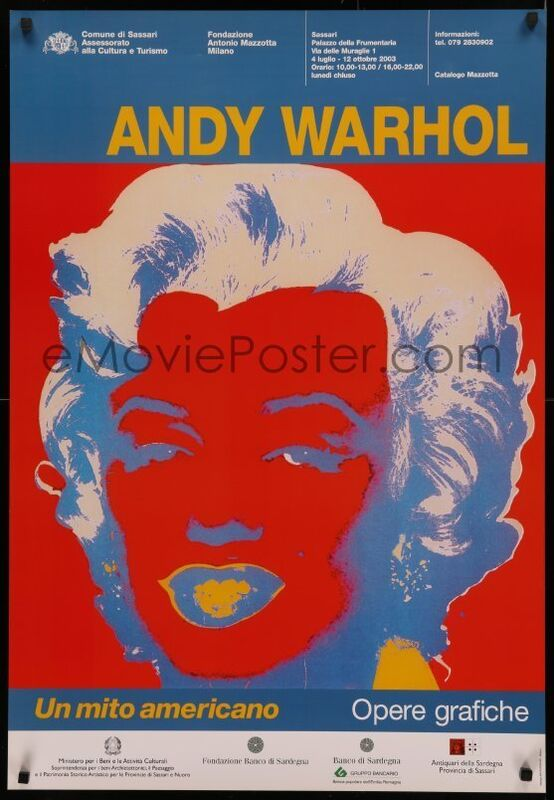 Andy Warhol, 'Andy Warhol Italian Museum Exhibition Poster', 2003, Ephemera or Merchandise, High Quality Lithographic Museum Exhibition Poster, David Lawrence Gallery
