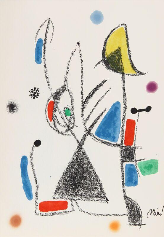 Joan Miró, 'Maravillas con Variaciones Acrosticas en el Jardin de Miro, Number 18', 1975, Print, Lithograph, RoGallery