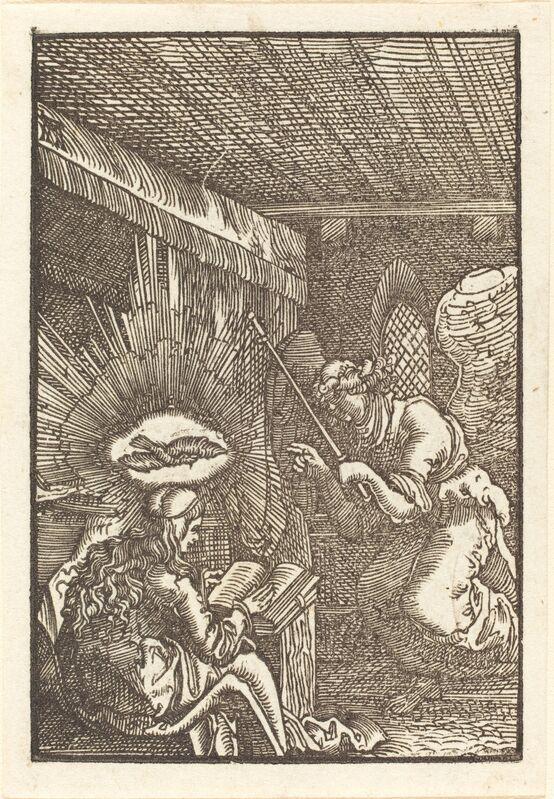 Albrecht Altdorfer, 'The Annunciation', ca. 1513, Print, Woodcut, National Gallery of Art, Washington, D.C.