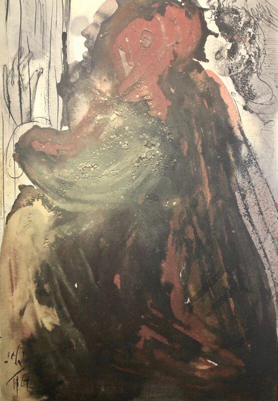 Salvador Dalí, 'David Mourning at The Death of Saul, 'Planctus David inMortem Saul', Biblia Sacra', 1967, Print, Original Lithograph, Inviere Gallery