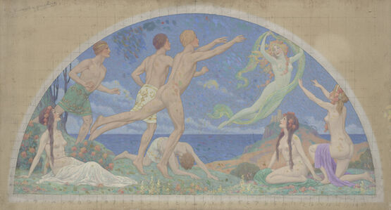 Charles Holloway, 'Study for 'The Pursuit of Pleasure', 1913