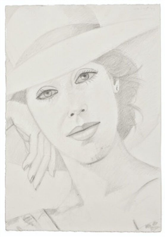 Alex Katz, 'Ronnie', 1979, Drawing, Collage or other Work on Paper, Graphite on paper, Corridor Contemporary