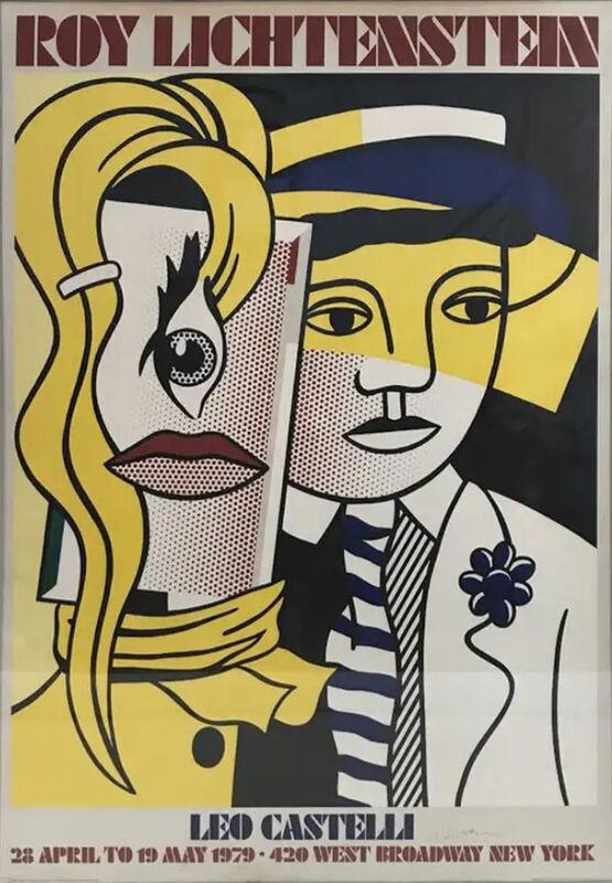 Roy Lichtenstein, 'Stepping Out, Hand signed Silkscreen Poster', 1978, Print, Silkscreen poster, Lyons Gallery