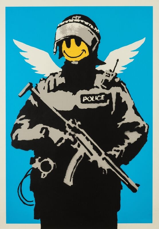 Banksy, 'Flying Copper', 2004, Print, Screenprint in colours, Forum Auctions