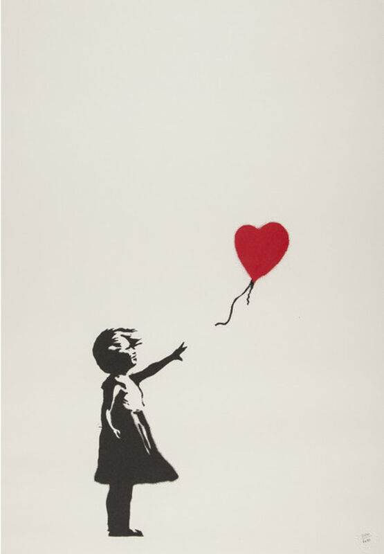 Banksy, 'Girl With Balloon (Unsigned)', 2004, Print, Screenprint on paper, Hexagon Gallery