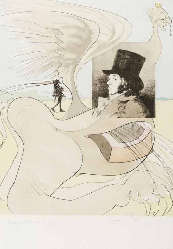 Salvador Dalí, 'Portrait of Goya (from Les Caprices de Goya de Dali) (Field 77-3-80; M & L 848b)', 1977, Print, Etching with pochoir printed in colours, Forum Auctions