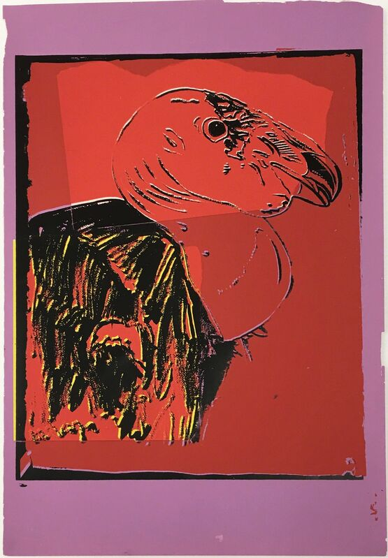 Andy Warhol, 'Vanishing Animals -- California Condor (1)', 1986, Mixed Media, Unique colored paper, collage and silkscreen, Hamilton-Selway Fine Art