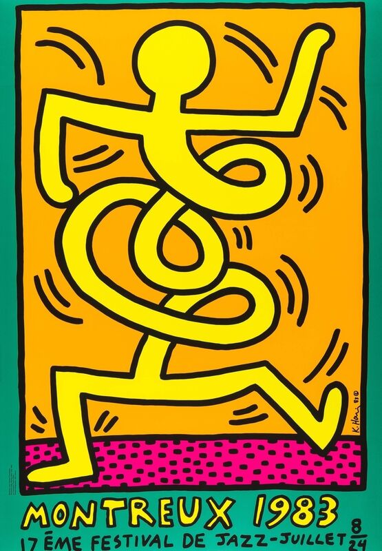 Keith Haring, 'Montreux 1983 Green (Döring & Osten 9)', 1983, Print, Screenprint in colours, Forum Auctions
