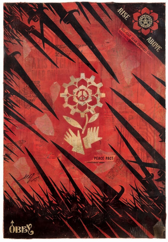Shepard Fairey, 'Bayonets', 2005, Mixed Media, Mixed techniques, collage, Danysz Gallery
