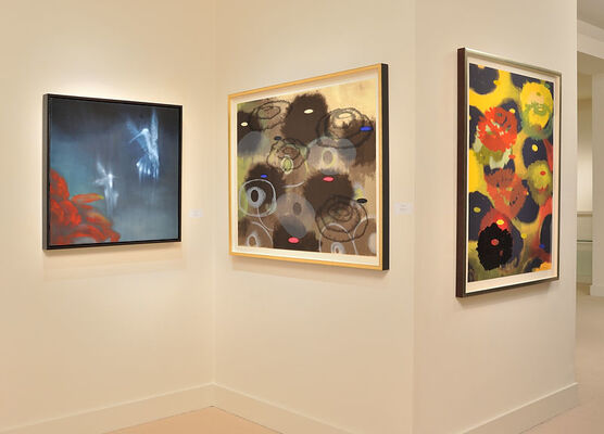 Ross Bleckner: Flowers - Works on Paper from the 1990's, installation view