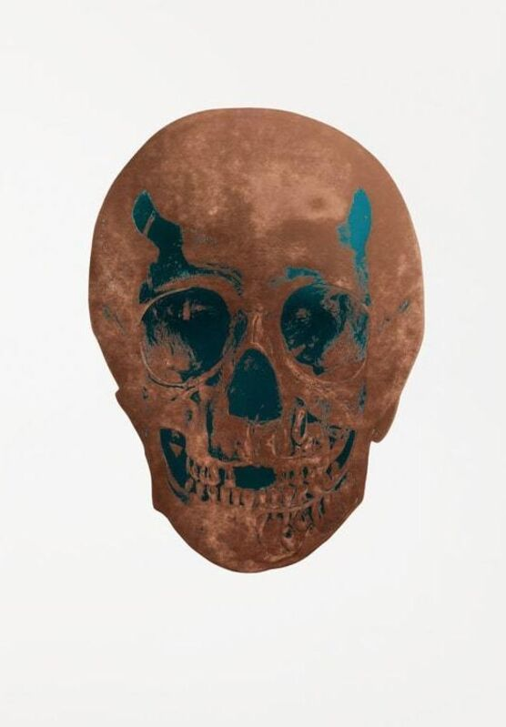 Damien Hirst, 'Panama Copper/Turquoise Skull', 2009, Print, 2 colour foil back on 300gsm Arches 88 paper, Tate Ward Auctions