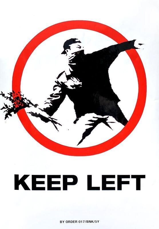 "Banksy, 'BANKSY ""KEEP LEFT"" STICKER', ca. 2005, Print, Fasson backed sticker, Arts Limited"