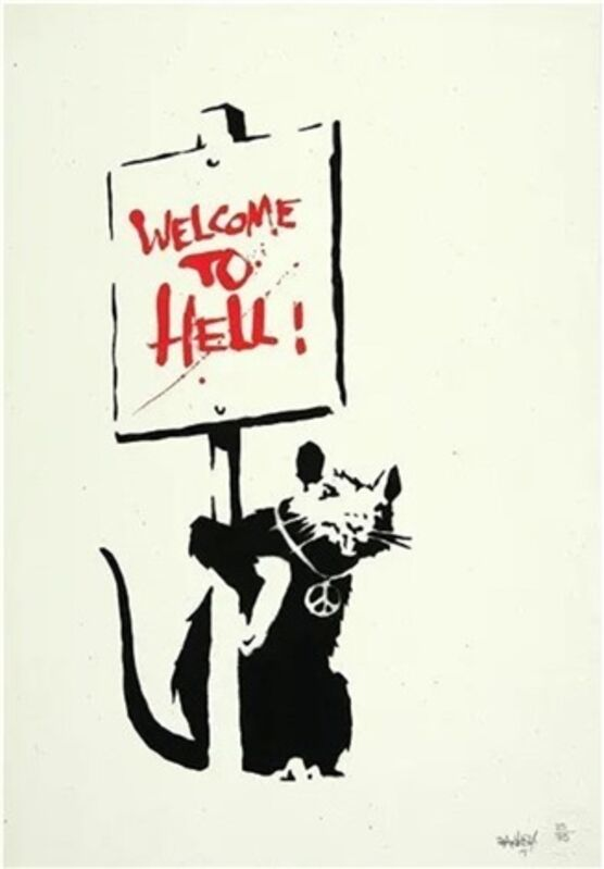 Banksy, 'Welcome To Hell (Signed)', 2004, Print, Screenprint on paper, ArtLife Gallery