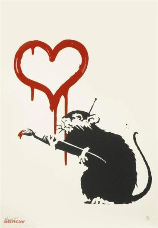 Banksy, 'Love Rat (Unsigned)', 2004, Print, Screenprint, ArtLife Gallery