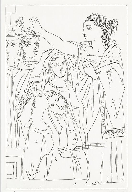 Pablo Picasso, 'Le Serment des Femmes', 1934, Print, Etching, Georgetown Frame Shoppe