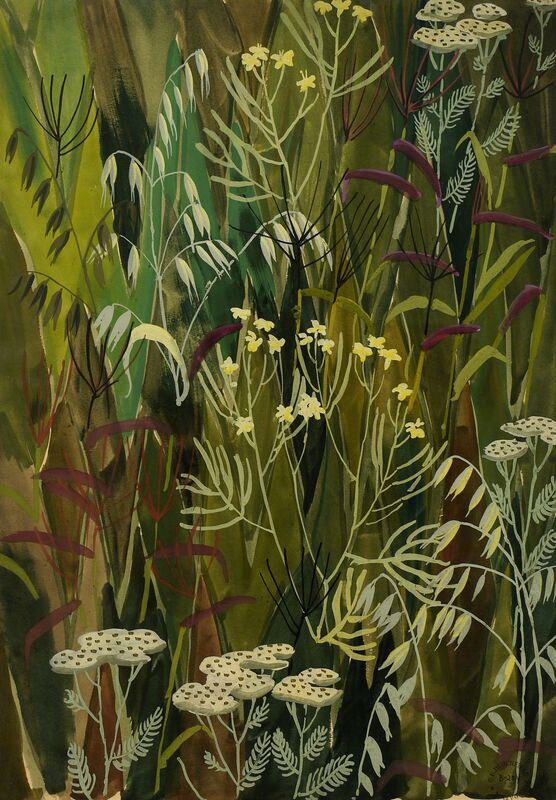 Charles Ephraim Burchfield, 'Wallpaper Design no. 3', Drawing, Collage or other Work on Paper, Watercolor and gouache on paper, DC Moore Gallery