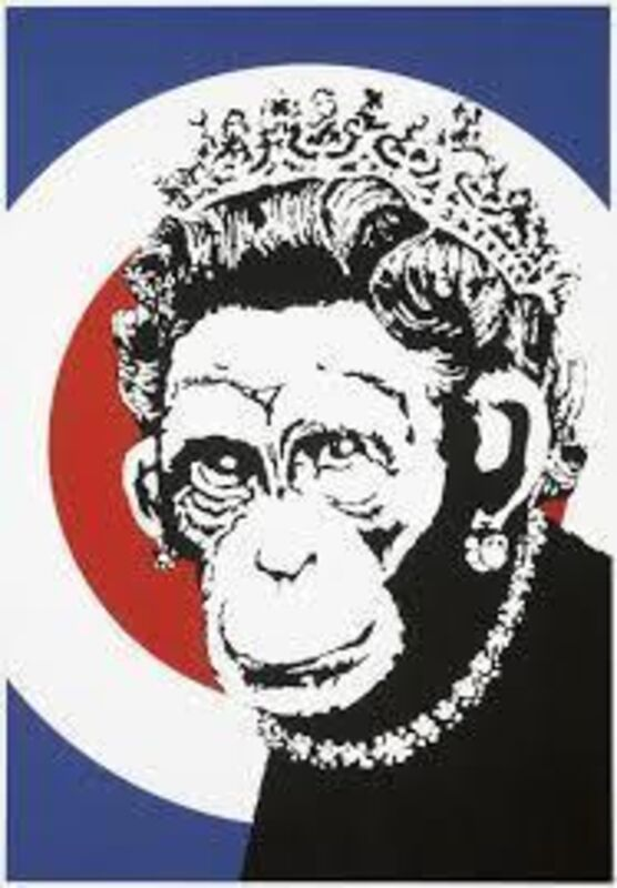 Banksy, 'Monkey Queen', 2003, Print, Screen print in colours on wove paper, Tate Ward Auctions