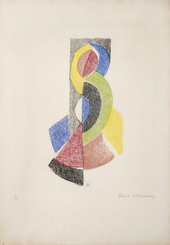 Sonia Delaunay, 'Le Rythme VI', 1966, Print, Colour etching, Il Ponte