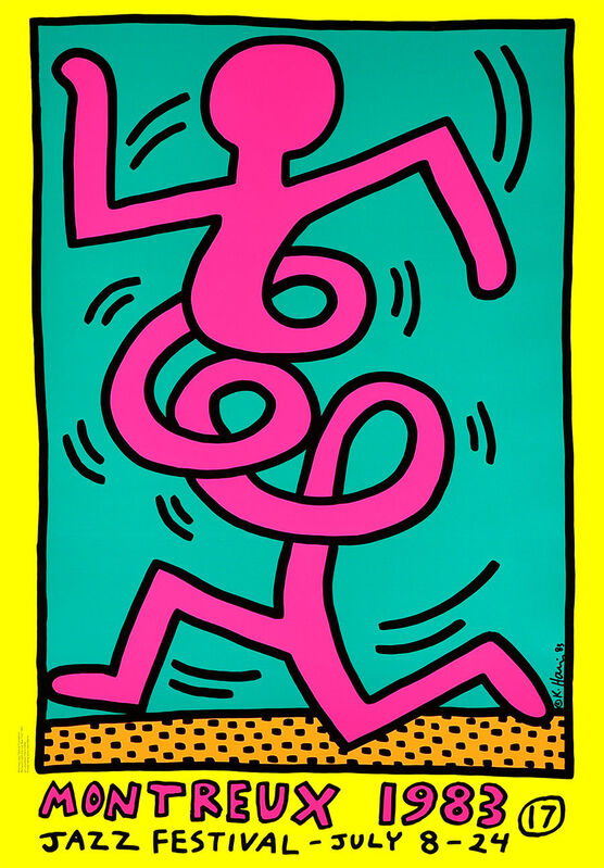 Keith Haring, 'Montreux, 1983 (yellow)', 1983, Print, Screen print on  paper, ARTETRAMA