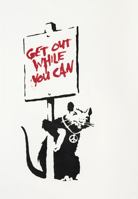 Banksy, 'Get Out While You Can', 2005, Print, Screenprint in colours on wove paper, Tate Ward Auctions