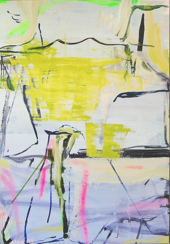Alvaro Seixas, 'Pintura Sem Título (Ariel encontra Calibran - Green Version)', 2016, Painting, Enamel and oil on linem, Roberto Alban Galeria de Arte