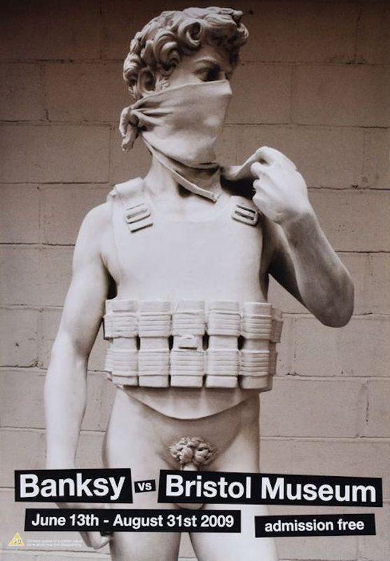 Banksy, 'BANKSY VS BRISTOL MUSEUM X4 OFFSET LITHOGRAPH LTD EDT', 2009, Ephemera or Merchandise, Satin white paper, Arts Limited
