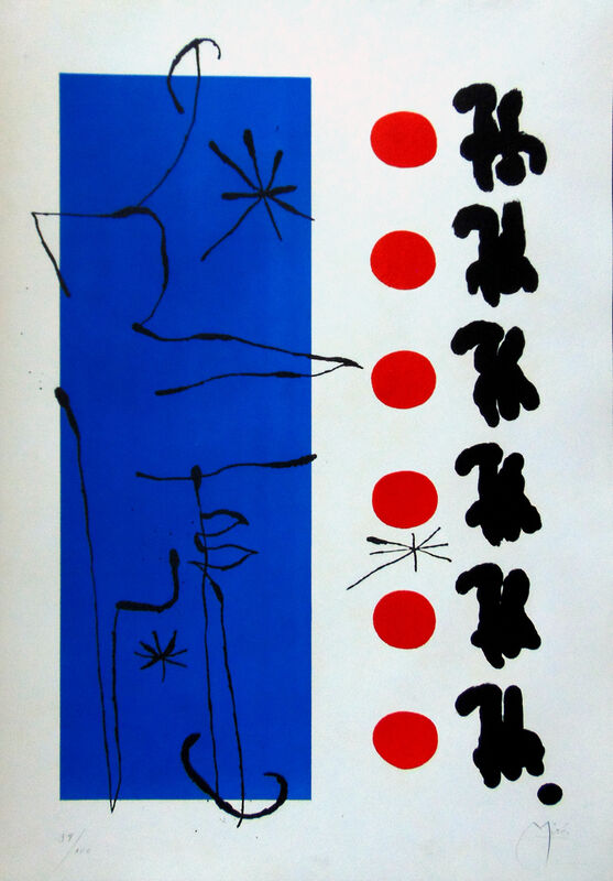 Joan Miró, 'Red and Blue | Rouge et bleu', 1960, Print, Lithograph in colors, on Arches wove paper, Upsilon Gallery