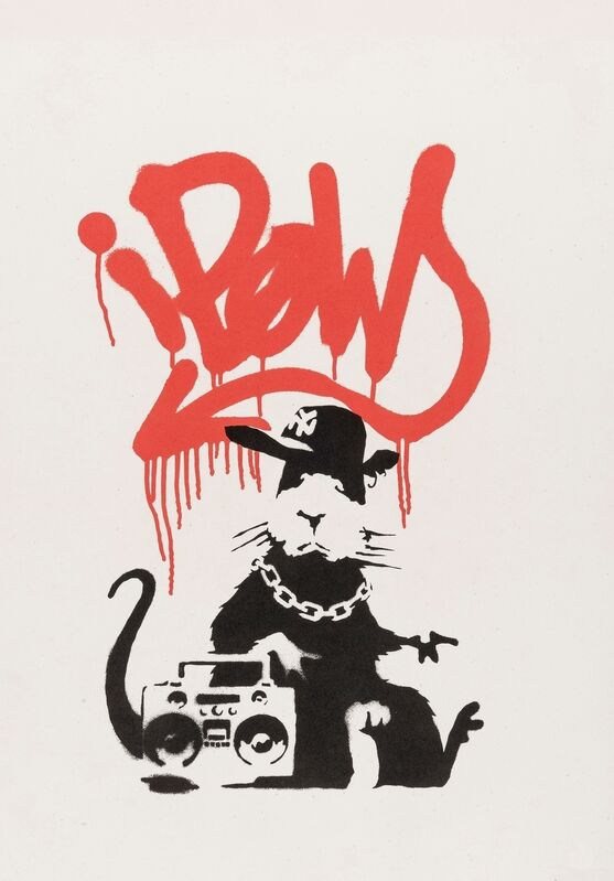 Banksy, 'Gangsta Rat', 2004, Print, Screenprint in colours, Forum Auctions
