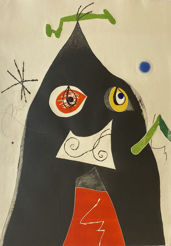 Joan Miró, 'Quatre Colors Aparien El Mon I (Four Colors will Beat the World I)', 1975, Print, Etching and Aquatint with Embossing in Colors on Arches Paper, Denis Bloch Fine Art