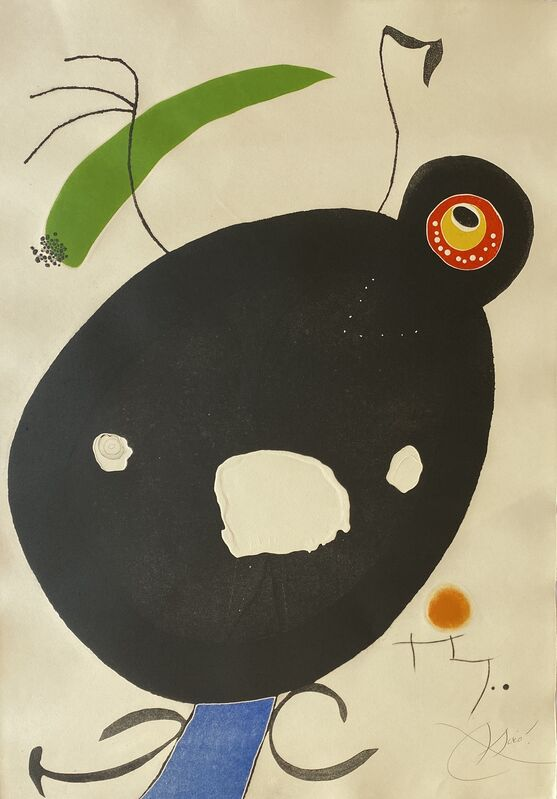 Joan Miró, 'Quatre Colors Aparien El Mon IV (Four Colors will Beat the World IV)', 1975, Print, Etching and Aquatint with Embossing in Colors on Arches Paper, Denis Bloch Fine Art
