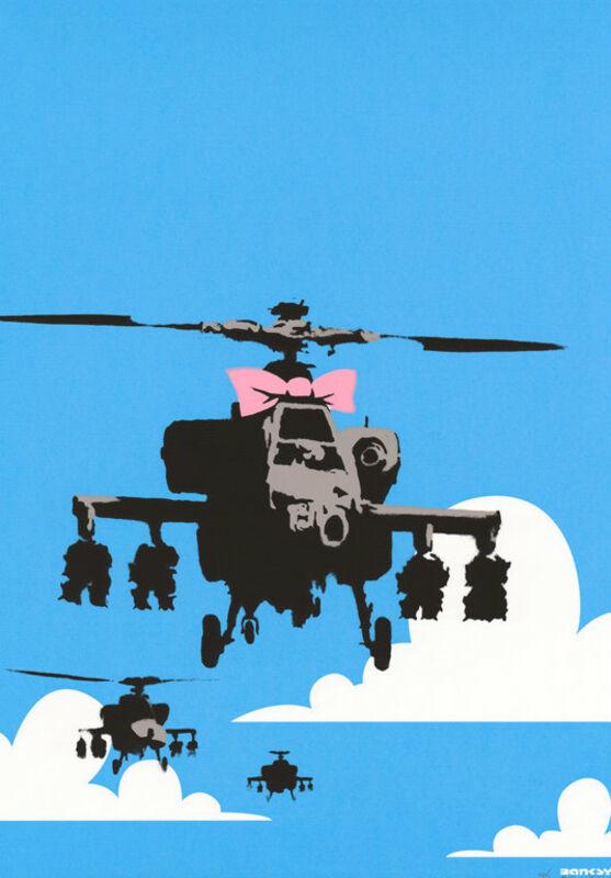 Banksy, 'Happy Choppers', 2003, Print, Screenprint on paper, Taglialatella Galleries