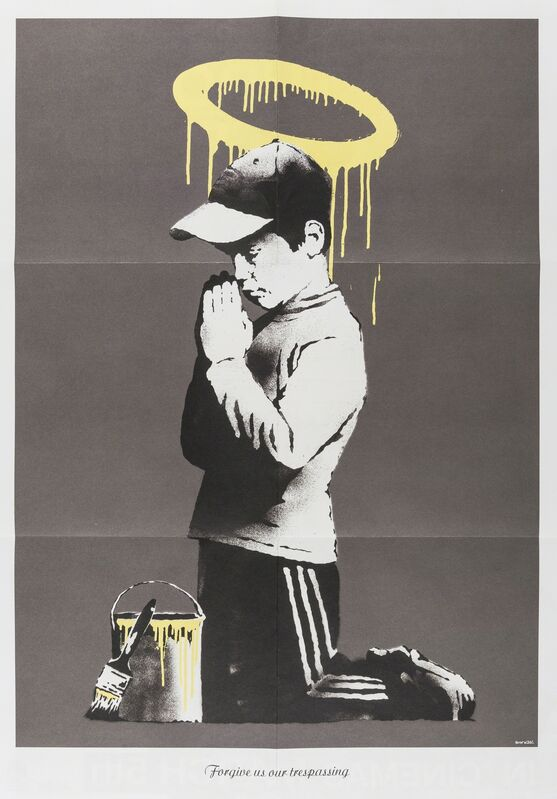 Banksy, 'Forgive us our trespasses', 2010, Posters, Offset lithograph printed in colours, Forum Auctions