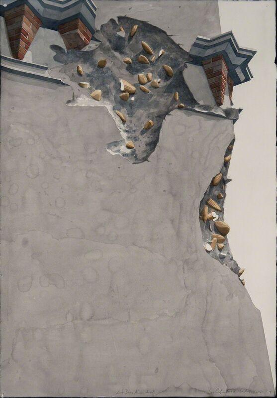 Los Carpinteros, ' Art Deco Almendrado (Almond Art Deco) ', 2012, Watercolor on heavy paper, Habana