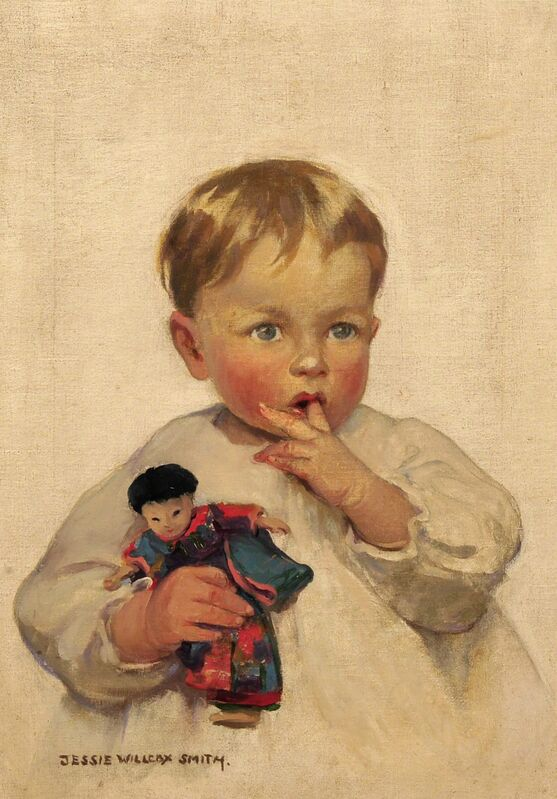 JESSIE WILLCOX SMITH, 'Woman's Home Companion Magazine Cover', 1912, Painting, Oil on Canvas, The Illustrated Gallery