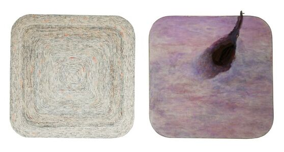"Song Dong & Yin Xiuzhen, 'Chopsticks: Incision of Time ""Tree Ring"" and ""Black Hole"" Square 20121', 2012"